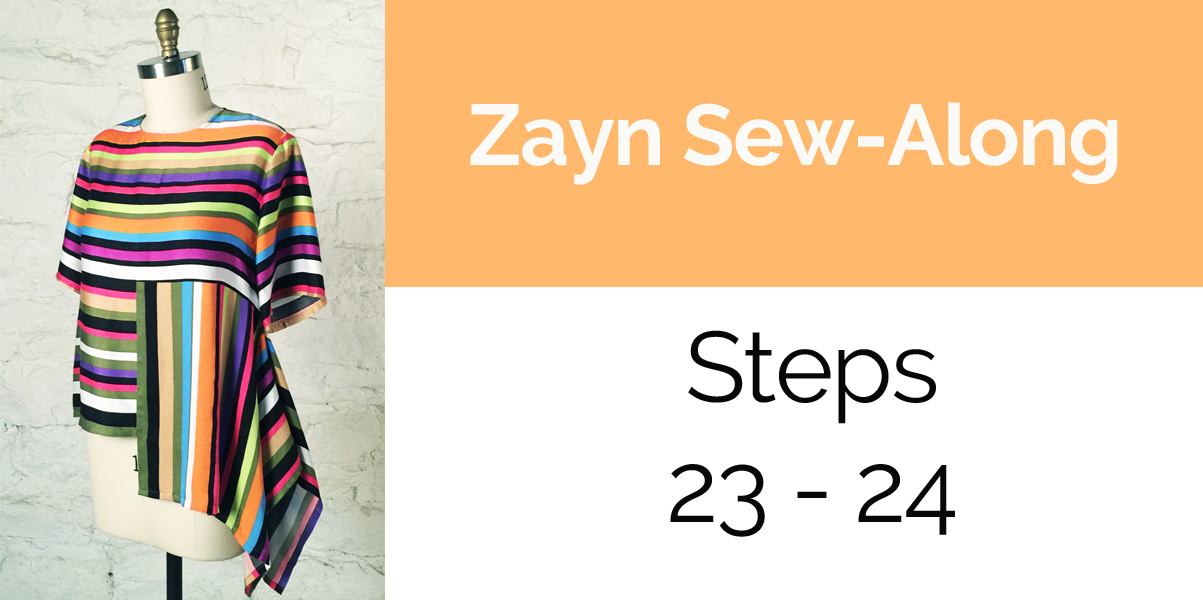 Zayn Sew-Along: Steps 23 - 24: Neck Binding