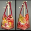 Daily news bag sewn with Anna Maria Horner cotton fabric