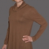 Alex top in a brown cotton knit