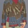 Equinox Jacket sewing pattern made in cotton ikat fabric