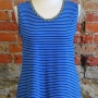 Anns tank made in a stripe knit with polka dot binding