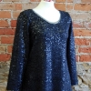 Anns tank with added sleeves, made in a wool sequin knit fabric
