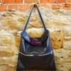 Downtown bag made in black vegan leather