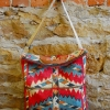 Downtown bag pattern made in red ikat fabric