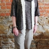 Sewing Workshop Patterns Hudson Top in Brown Knit with Quincy Pants