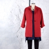 Chicago jacket made in a red linen fabric