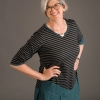 Sewing Workshop Patterns stripe knit Ivy Top