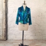 eJacket sewing pattern made in a handpainted silk charmeuse fabric
