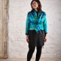 eJacket digital pattern made in a teal handpainted silk charmeuse