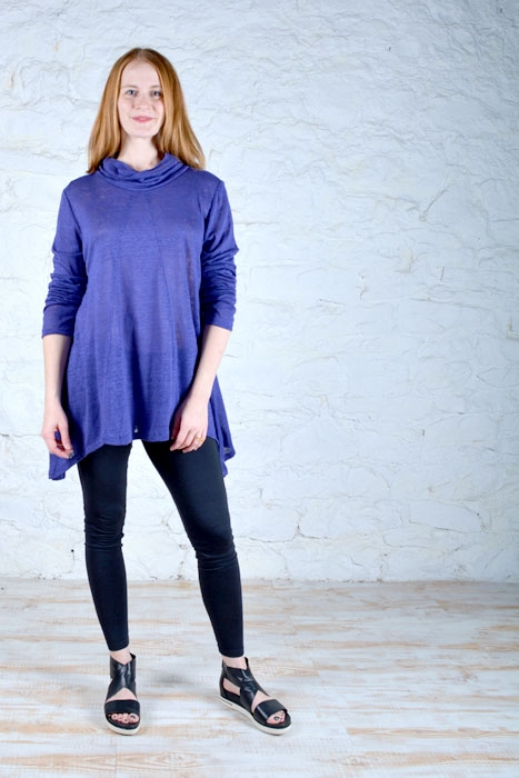 Alex top sewing pattern in jersey knit