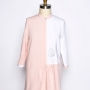 colorblocked pink and white Berwick St. Tunic