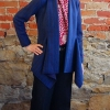 Anns cardigan sewn in a navy wool double knit fabric
