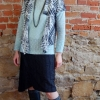 eShrug digital pattern made in a houndstooth lace knit fabric
